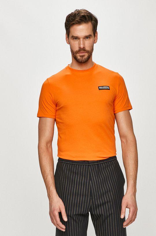 oranžová Karl Lagerfeld - Tričko Pánsky