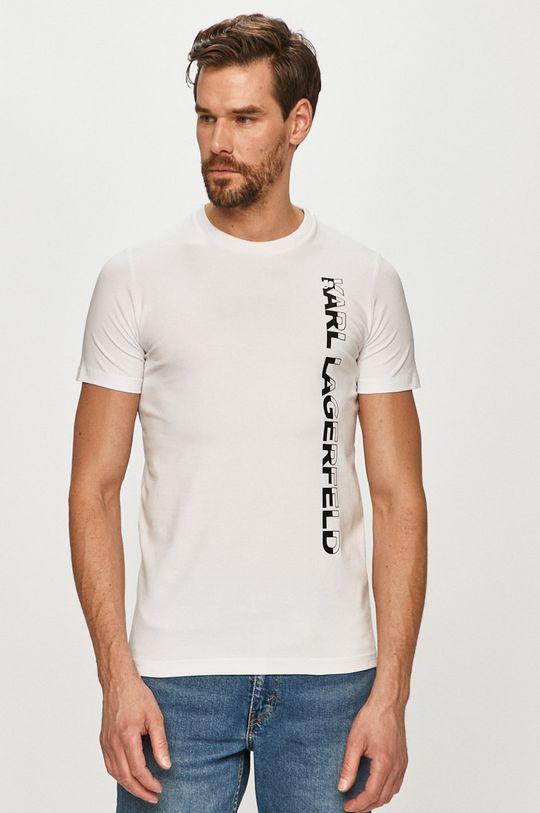 alb Karl Lagerfeld - Tricou De bărbați