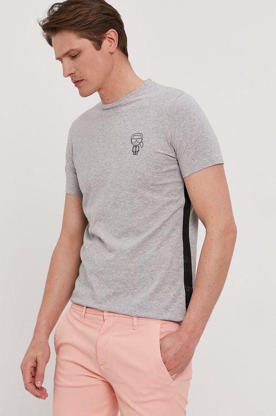 szary Karl Lagerfeld - T-shirt Męski