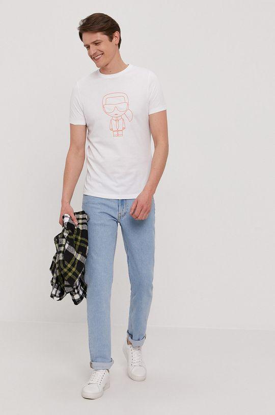 Karl Lagerfeld - Tricou alb