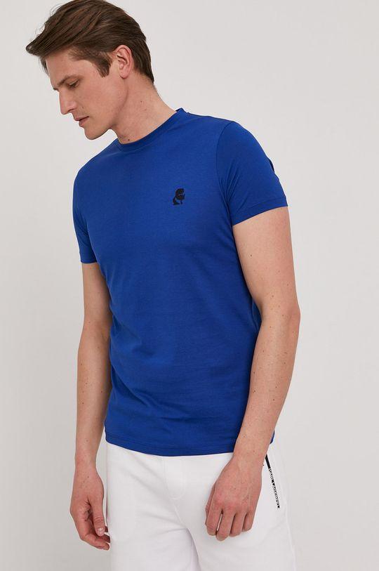 niebieski Karl Lagerfeld - T-shirt Męski