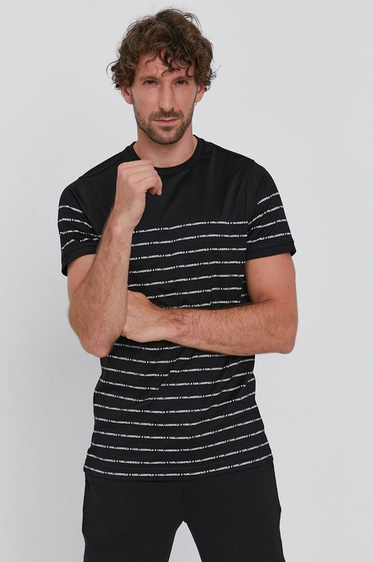 čierna Karl Lagerfeld - Tričko Pánsky