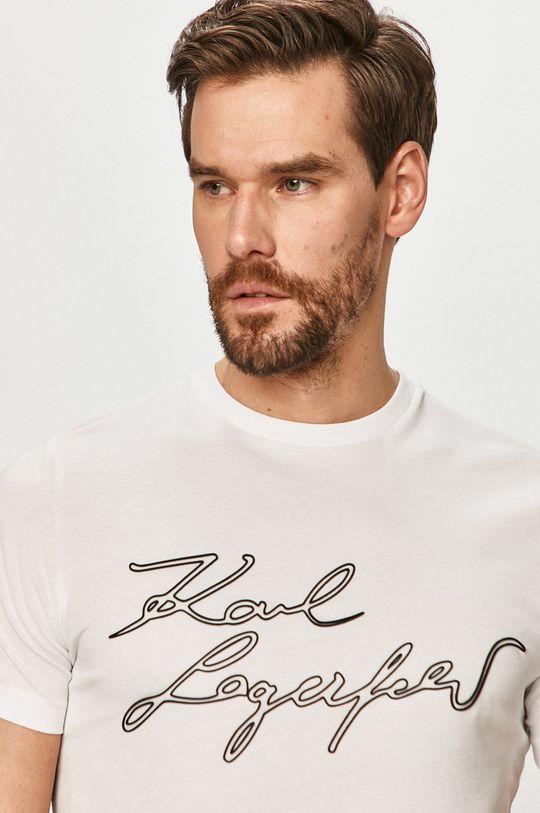 bílá Karl Lagerfeld - Tričko Pánský