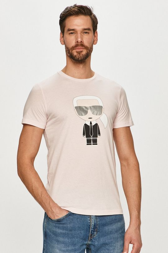 růžová Karl Lagerfeld - Tričko Pánský