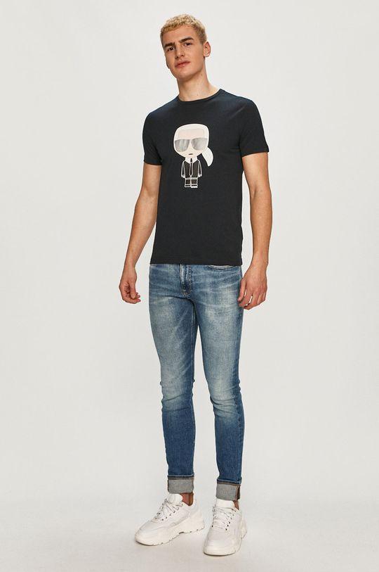 Karl Lagerfeld - Tričko námořnická modř