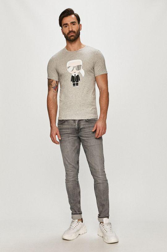 Karl Lagerfeld - T-shirt szary