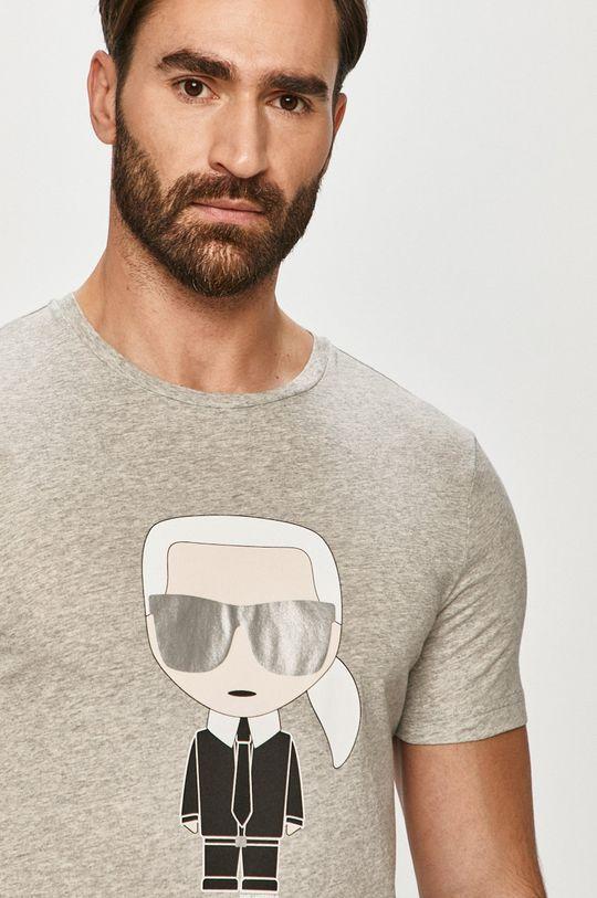 szary Karl Lagerfeld - T-shirt