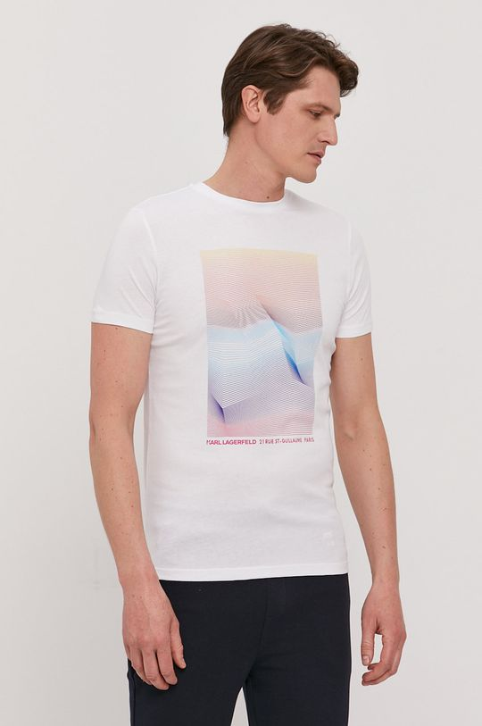 biały Karl Lagerfeld - T-shirt Męski