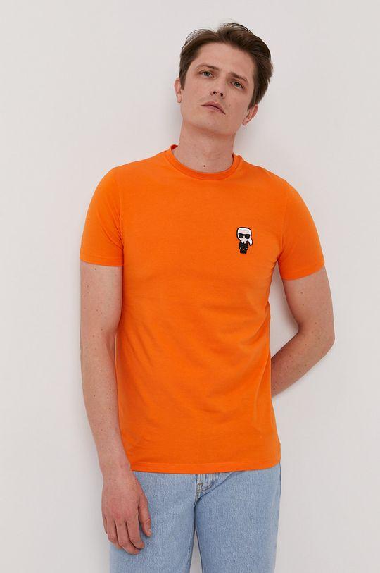 pomarańczowy Karl Lagerfeld - T-shirt Męski