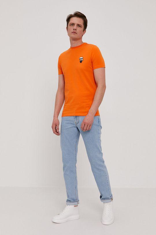 Karl Lagerfeld - T-shirt pomarańczowy