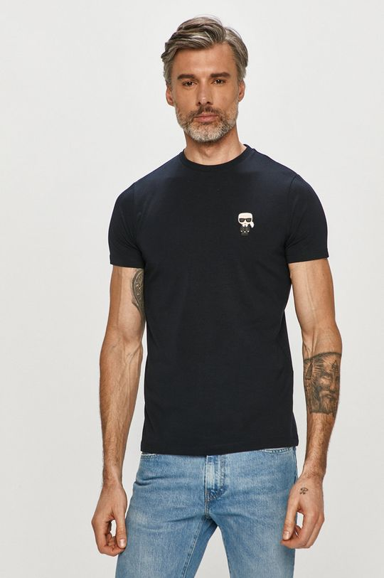 tmavomodrá Karl Lagerfeld - Tričko Pánsky