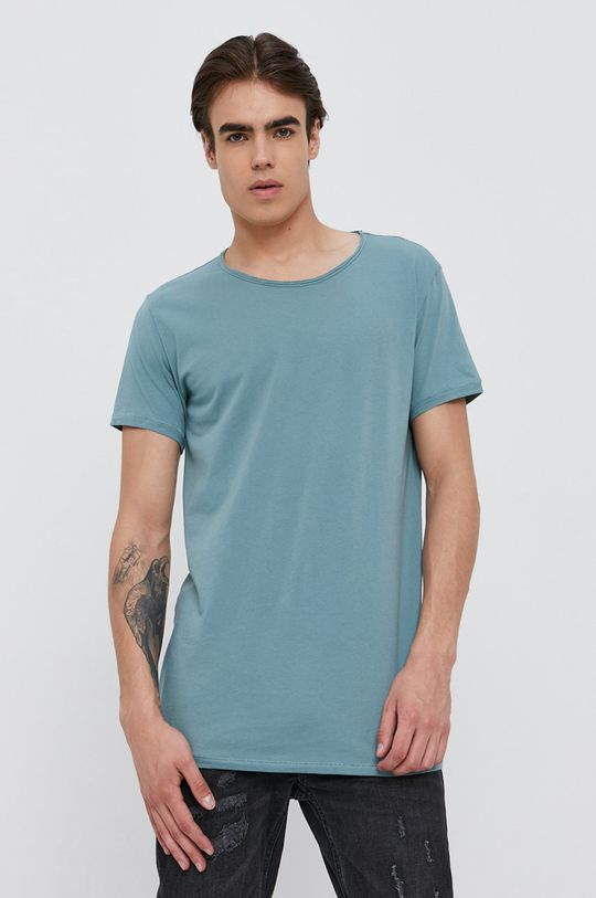 turkusowy Tigha - T-shirt Męski