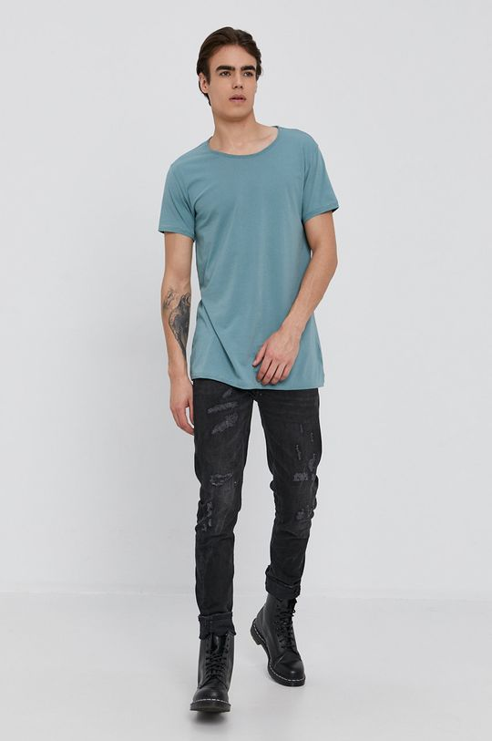 Tigha - T-shirt turkusowy