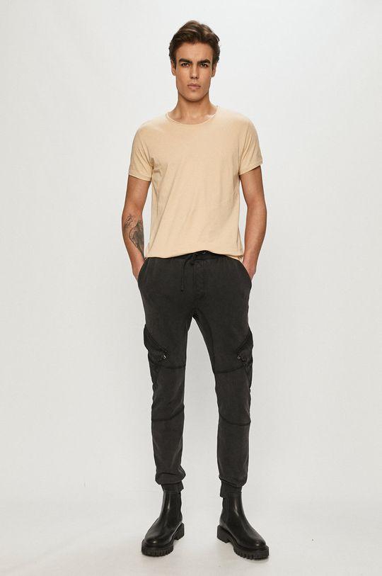 Tigha - T-shirt beżowy