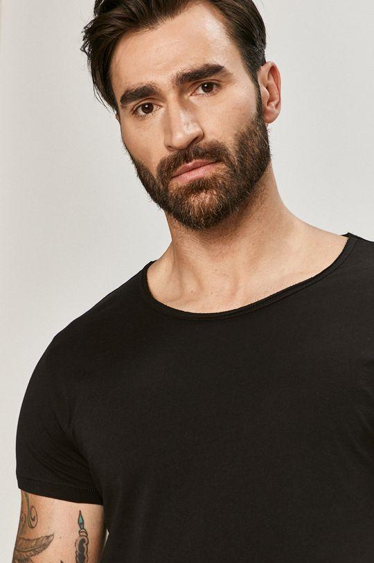 czarny Tigha - T-shirt Męski