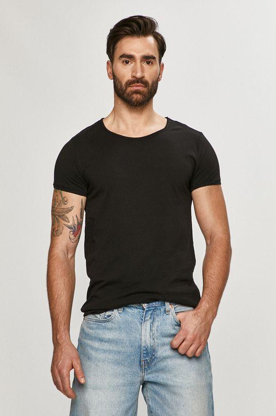 czarny Tigha - T-shirt