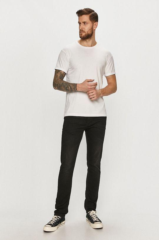 Tigha - T-shirt Zander biały