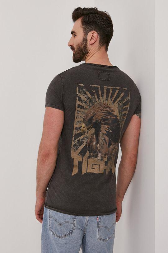 szary Tigha - T-shirt Vintage Eagle Męski