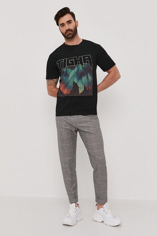 Tigha - T-shirt czarny