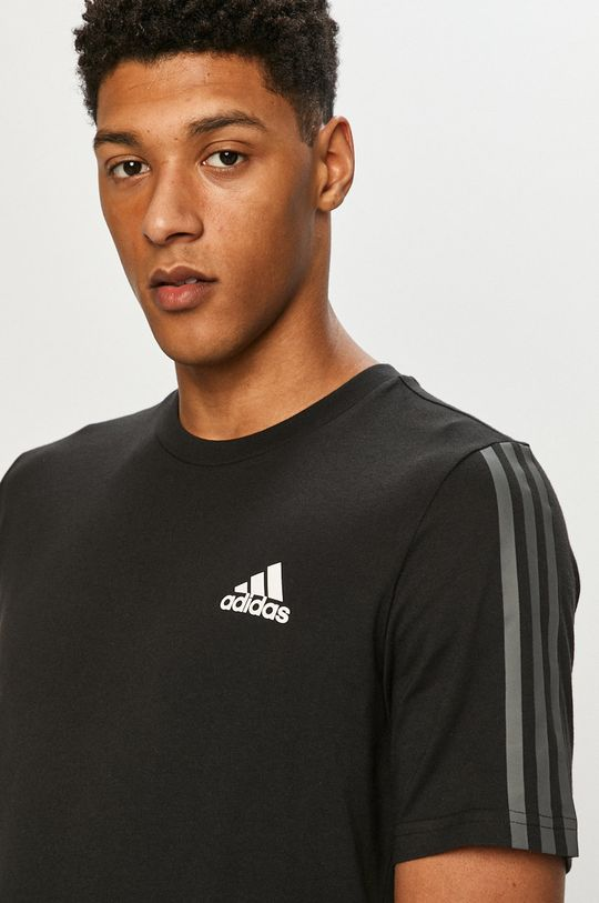 czarny adidas - T-shirt