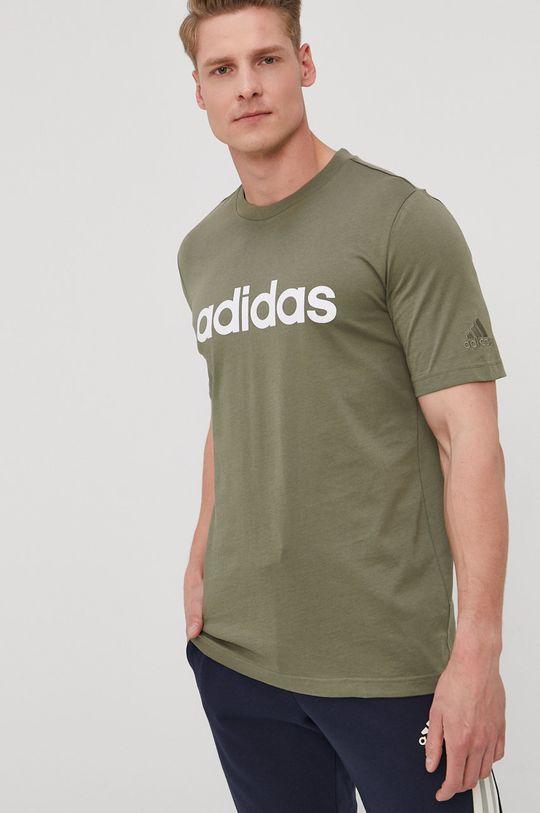 zelená adidas - Tričko Pánsky