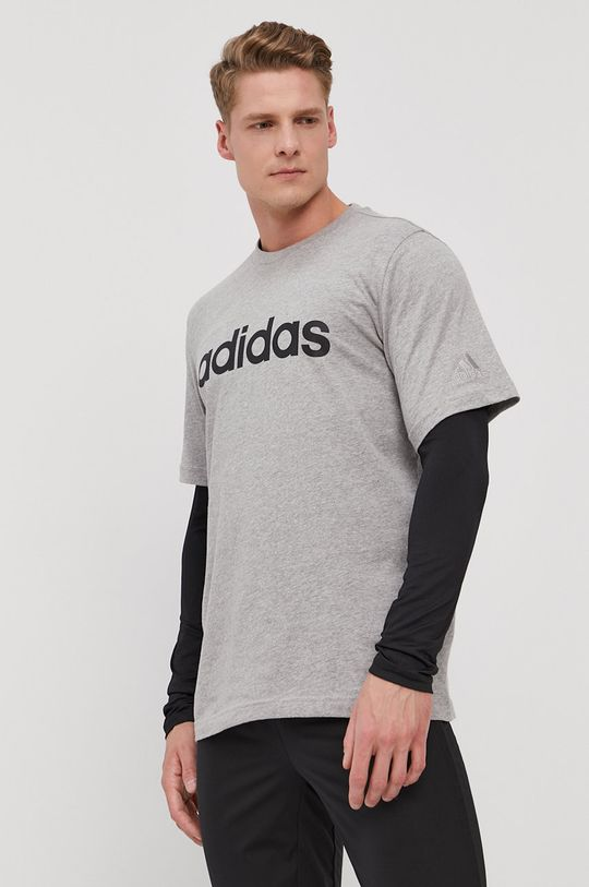 szary adidas - T-shirt Męski
