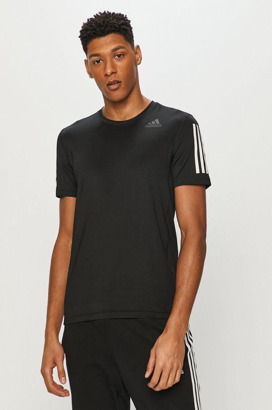 czarny adidas Performance - T-shirt Męski