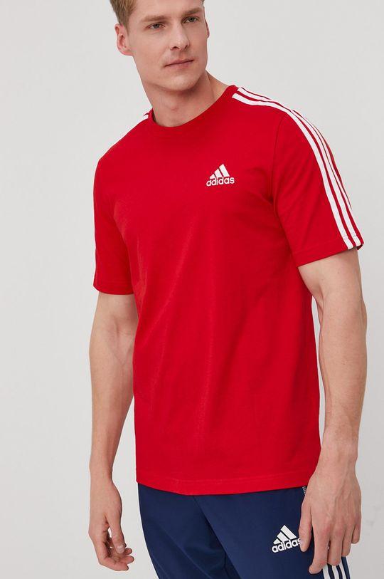sýtočervená adidas - Tričko Pánsky
