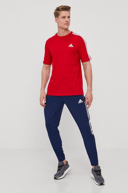adidas - Tričko sýtočervená