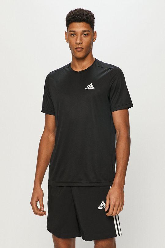 černá adidas - Tričko Pánský