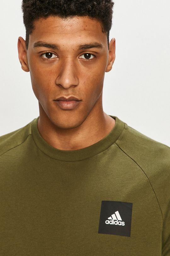 olivová adidas Performance - Tričko