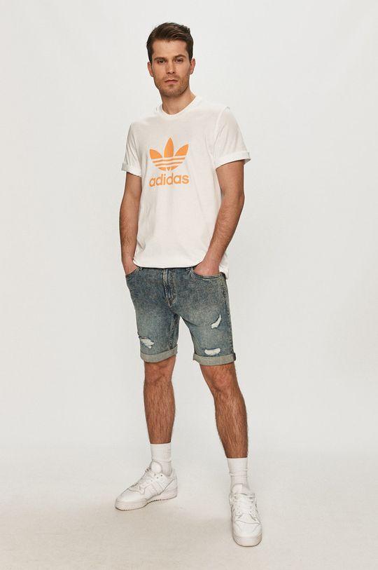 biały adidas Originals - T-shirt Męski