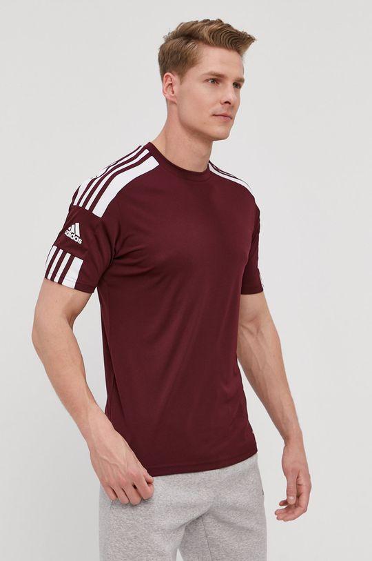 kasztanowy adidas Performance - T-shirt Męski