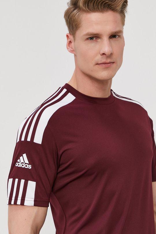 kasztanowy adidas Performance - T-shirt