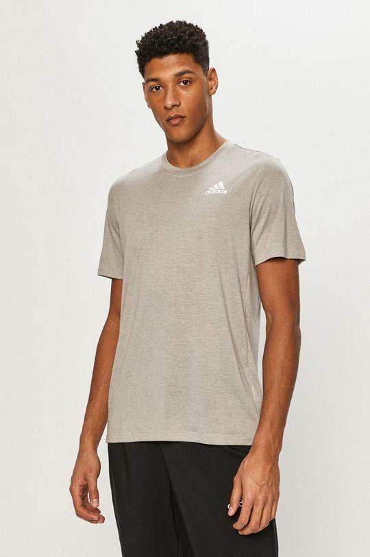 sivá adidas - Tričko Pánsky