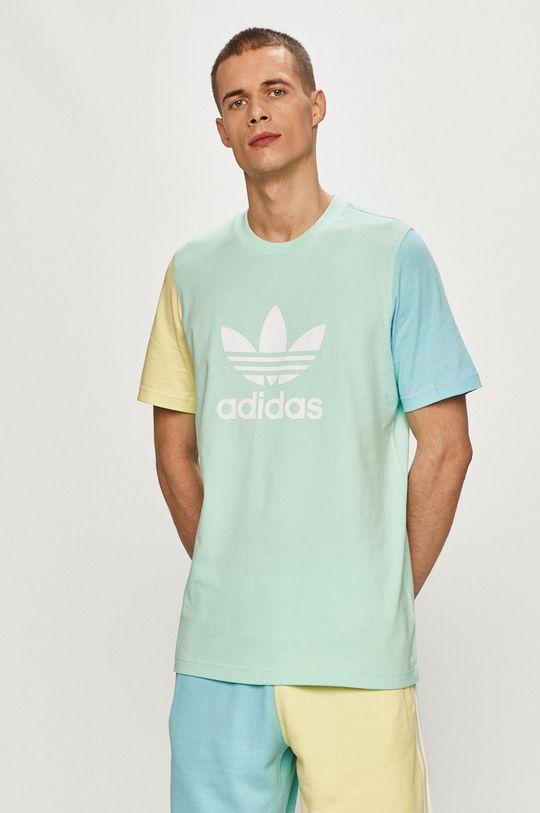 světle tyrkysová adidas Originals - Tričko