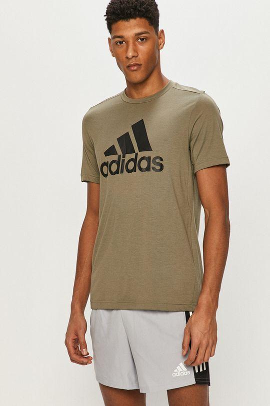 zelená adidas - Tričko Pánský