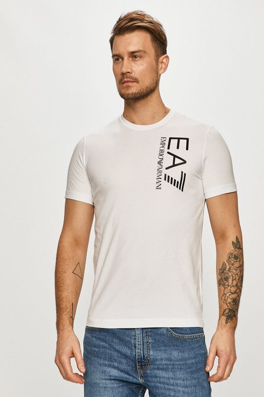 biela EA7 Emporio Armani - Tričko Pánsky