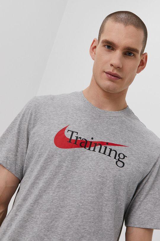 jasny szary Nike - T-shirt