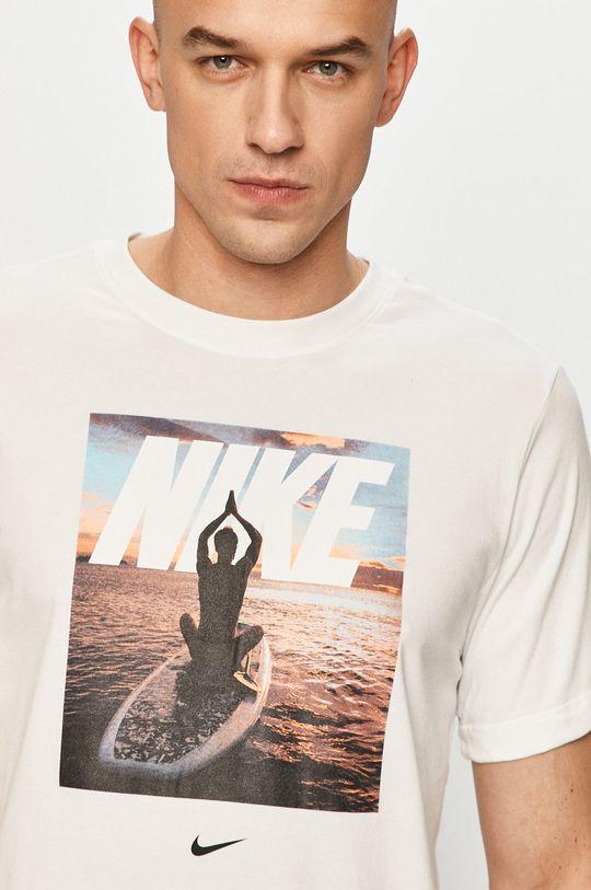 biały Nike - T-shirt