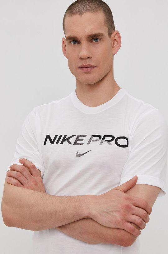 biały Nike - T-shirt Męski