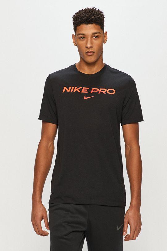 czarny Nike - T-shirt Męski