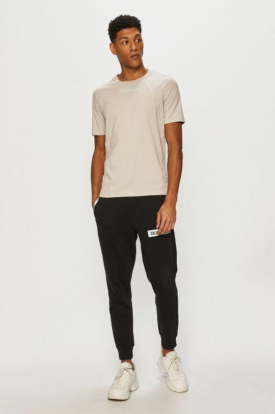 Calvin Klein Performance - T-shirt piaskowy