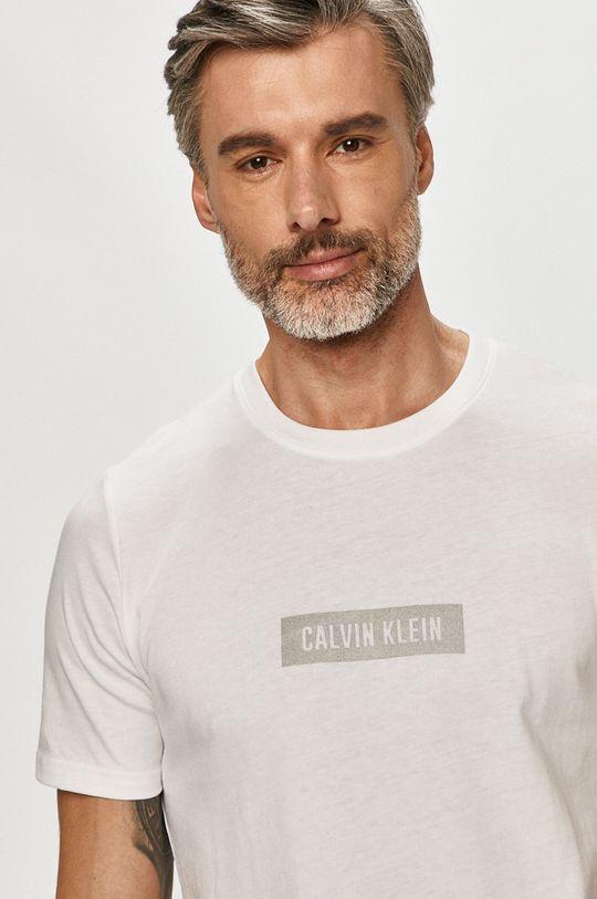 biela Calvin Klein Performance - Tričko Pánsky