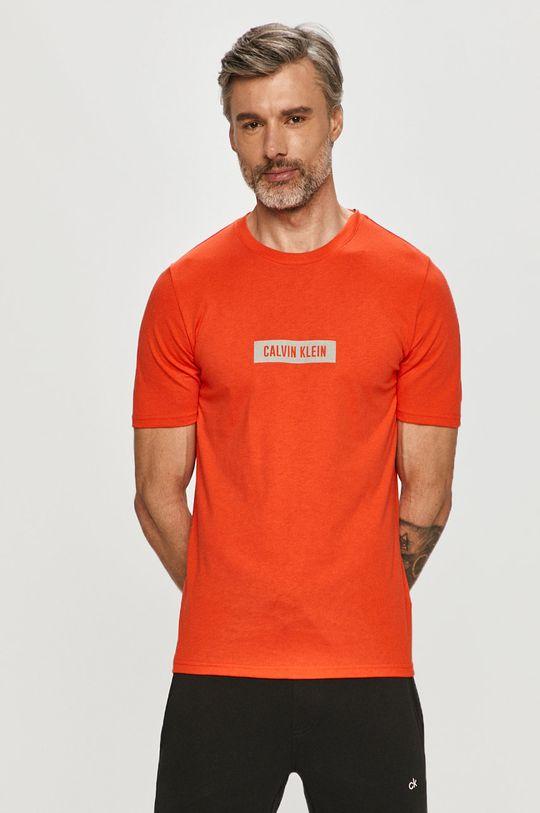 pomarańczowy Calvin Klein Performance - T-shirt Męski