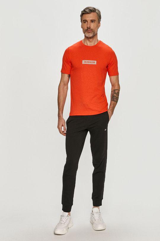 Calvin Klein Performance - T-shirt pomarańczowy