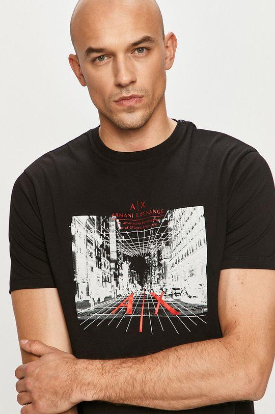 czarny Armani Exchange - T-shirt