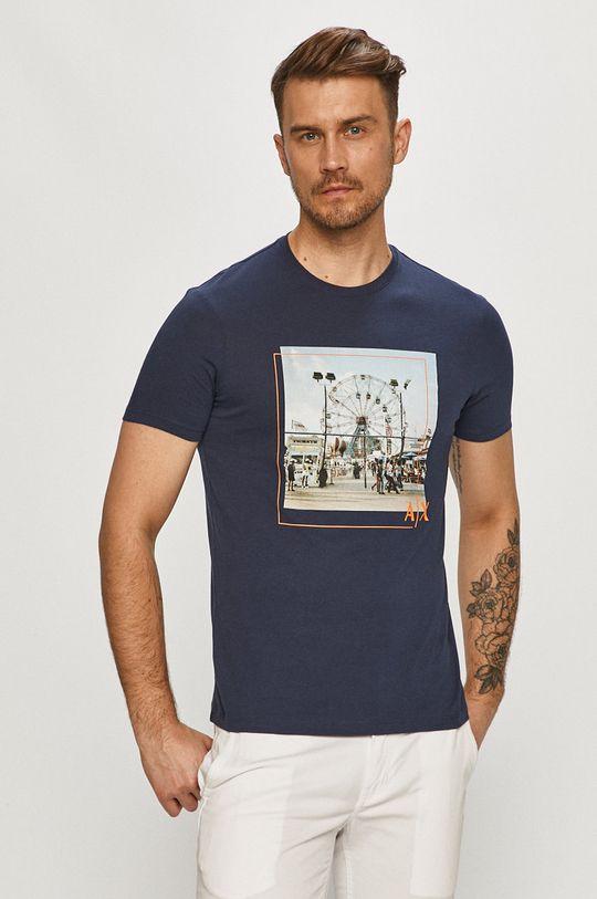 námořnická modř Armani Exchange - Tričko Pánský
