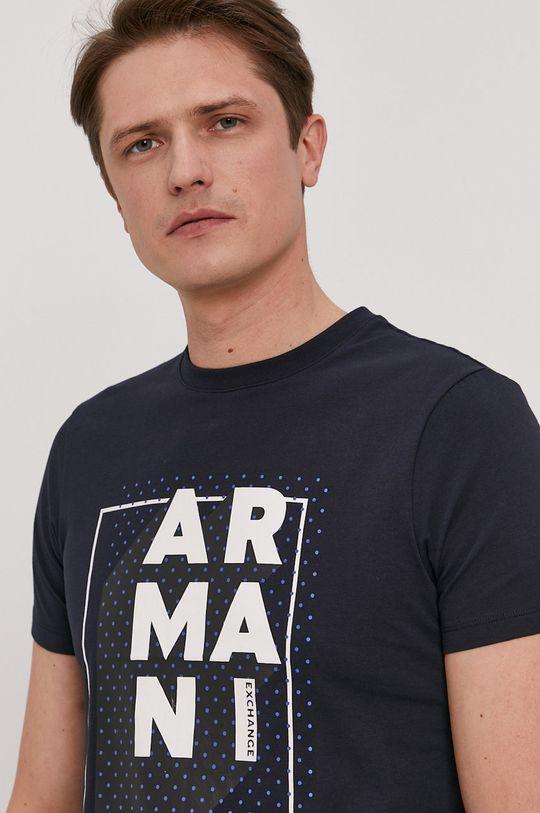 granatowy Armani Exchange - T-shirt