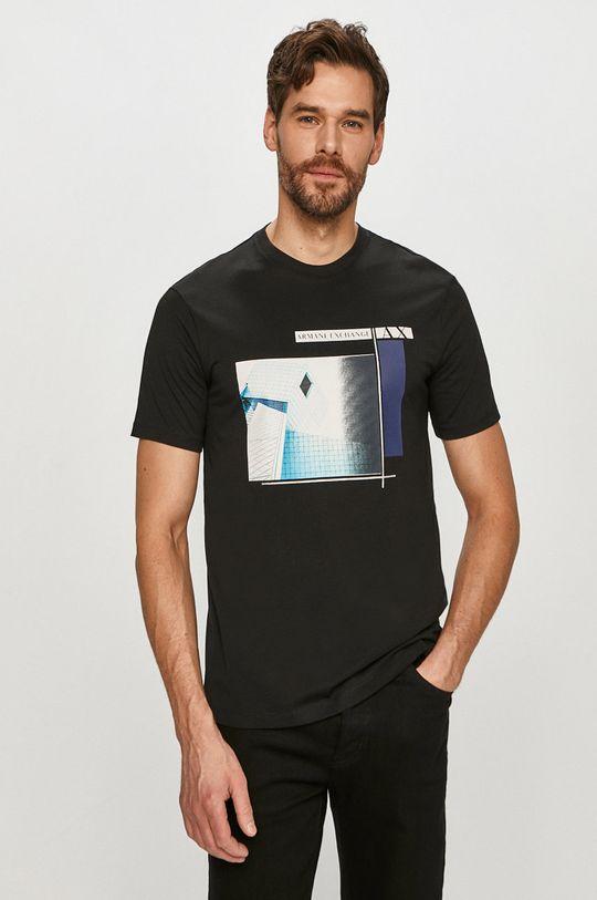 negru Armani Exchange - Tricou De bărbați